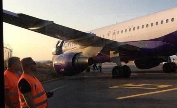 Δείτε φωτο και περιγραφές επιβάτη: Το airbus της Ellinair βγήκε από το διάδρομο στο αεροδρόμιο Ηρακλείου