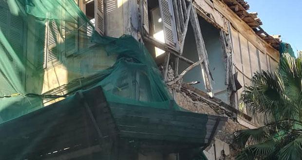 Κίνδυνος από ετοιμόρροπο κτίριο στο κέντρο του Ηρακλείου: