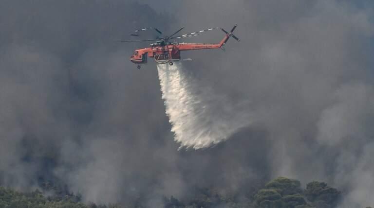 Pożar w pobliżu Preveli